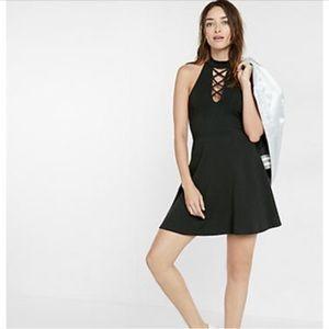 Express Lace Up Mini Dress
